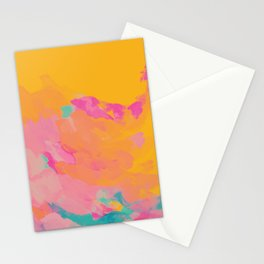 full color abstract sunset Stationery Cards