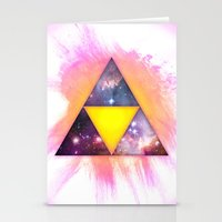 triforce Stationery Cards featuring Cosmic Triforce by Spooky Dooky