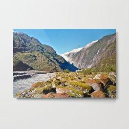 Franz Josef Glacier, New Zealand Metal Print