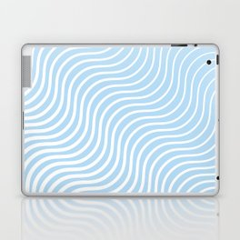 Whisker Pattern - Light Blue & White #285 Laptop & iPad Skin