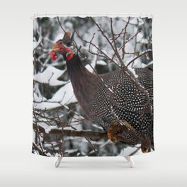 Guinea Fowl 2 Shower Curtain