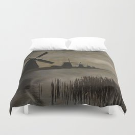 Windmills at Kinderdijk Holland Duvet Cover
