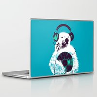 budi Laptop & iPad Skins featuring Record Bear by Picomodi