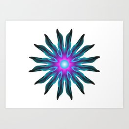 Blooming night Art Print