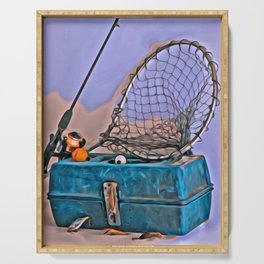 Gone Fishing Serving Tray