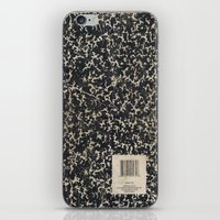 notebook iPhone & iPod Skins featuring Notebook by Zepto Grfx