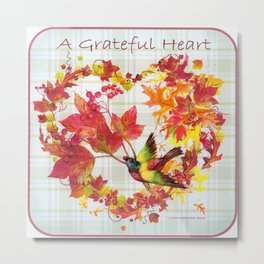 A Grateful Heart Metal Print