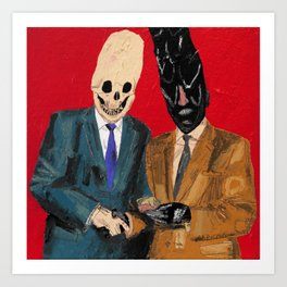 Presentation of the budget ham slice for lifetime services to Hell. 2015.  Art Print