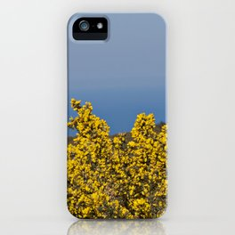 Landscape on mountain with blue sky iPhone Case