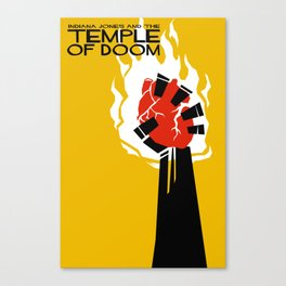 Indiana Jones and the Temple of Doom Minimal Movie Poster Canvas Print