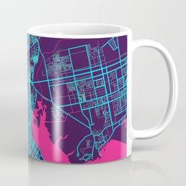 Karachi Neon City Map, Karachi Minimalist City Map Art Print Coffee Mug