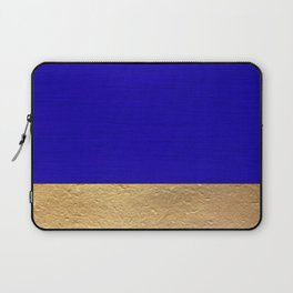Color Blocked Gold & Cerulean Laptop Sleeve