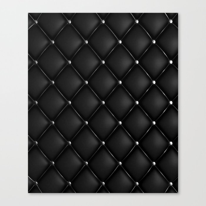 Black Quilted Leather Leinwanddruck