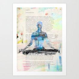 Yoga Book. Lesson 1 Concentration - painting - art print  Art Print