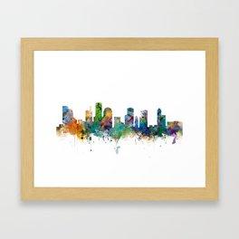 Houston Skyline Framed Art Print