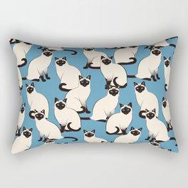 Siamese Cats Rectangular Pillow