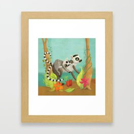 Babies on Backs Framed Art Print