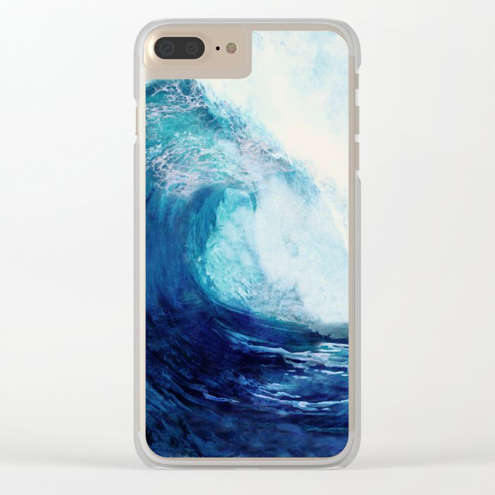 Waves II Clear iPhone Case