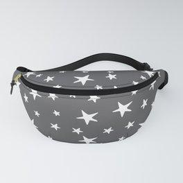 Stars - White on Gray Fanny Pack