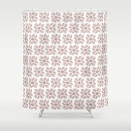 Redaka (White/Pink) Shower Curtain