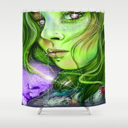 And just like that, Mithra was back Shower Curtain