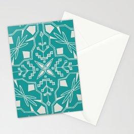 Turquoise Batik Stationery Cards