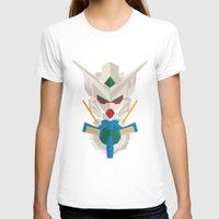 gundam T-shirts featuring gundam exia flat design by advino