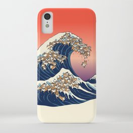 The Great Wave of Shiba Inu iPhone Case