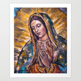 Guadalupe's Virgin Art Print