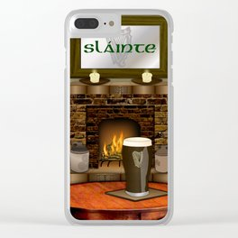 Irish Pub Clear iPhone Case