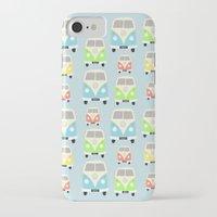 vans iPhone & iPod Cases featuring Camper Vans by Laura Maria Designs