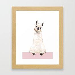hi! Llama Framed Art Print