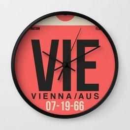VIE Vienna Luggage Tag 1 Wall Clock