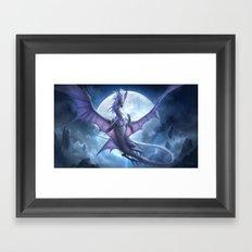 White Dragon v2 Framed Art Print