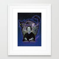 edgar allan poe Framed Art Prints featuring Edgar Allan Poe Gothic by Scott Jackson Monsterman Graphic