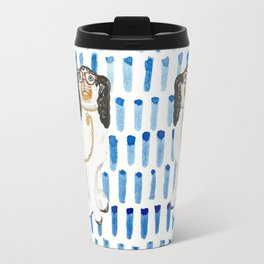 BESPECTACLED on BLUE Travel Mug