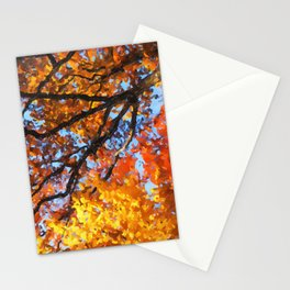 Autumnal colors in forest Stationery Cards