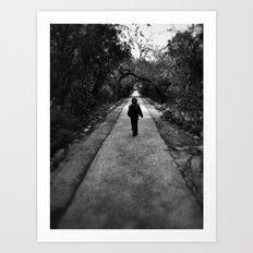 Narrow Road Art Print
