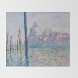 Le Grand Canal by Claude Monet Throw Blanket