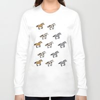 horses Long Sleeve T-shirts featuring Horses by mleko