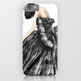 Sad Fashion / Emotional drawing iPhone Case