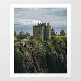 Dunnottar Castle in Stonehaven Art Print