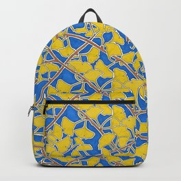 Yellow Ginkgo Leaves and Branches Backpack