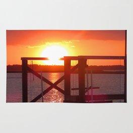 Folly Beach Sunset Rug
