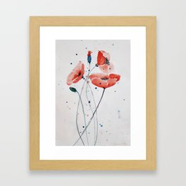 Poppies no 2 Framed Art Print