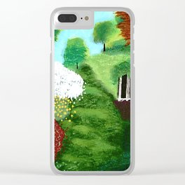 springtime Gazebo Clear iPhone Case