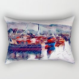 Irish Sea Rectangular Pillow