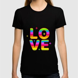 LGBT, Gay and Lesbian Quotes, Designs of Rainbows Flags and Hearts (28) T-shirt