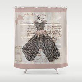 Blush Fancy Dress Shower Curtain