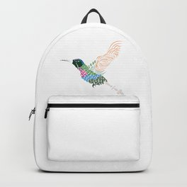 Abstract Hummingbird ~ Garnet-throated Variant Backpack